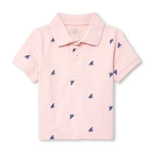 NWT Children's Place Pink/Blue Polo Shirt 12-18mo